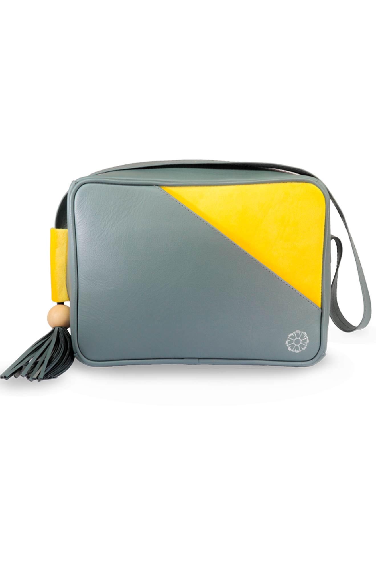 Leather and velvet camara bag